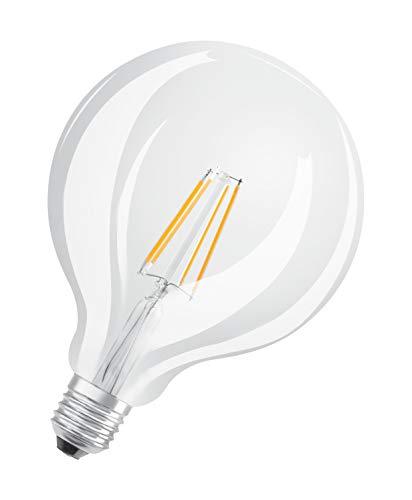 Osram LED Star Classic Globe, in Ballform mit E27-Sockel, Nicht Dimmbar, Ersetzt 60 Watt, Filamentstil Klar, Warmweiß – 2700 Kelvin, 1er-Pack - 4