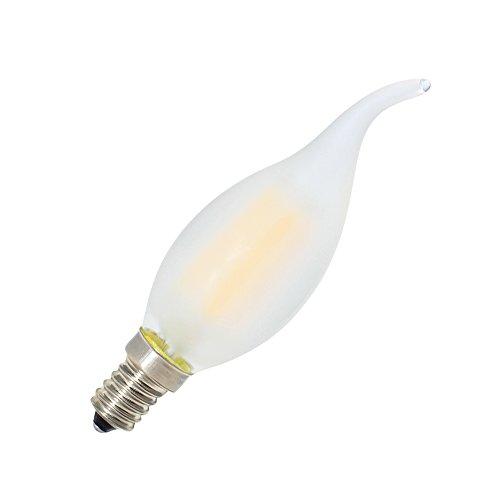 10er-Pack 4W Dimmbar LED Lampe in Kerzenform mit E14 Fassung,Ersetzt 40 Watt,LED Filament Kerze Birne Windstoß Matt Warmweiß 2700K - 3