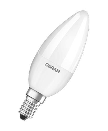 Osram LED Superstar Classic B, in Kerzenform mit E14-Sockel, Dimmbar, Ersetzt 40 Watt, Matt, Warmweiß – 2700 Kelvin, 1er-Pack - 2