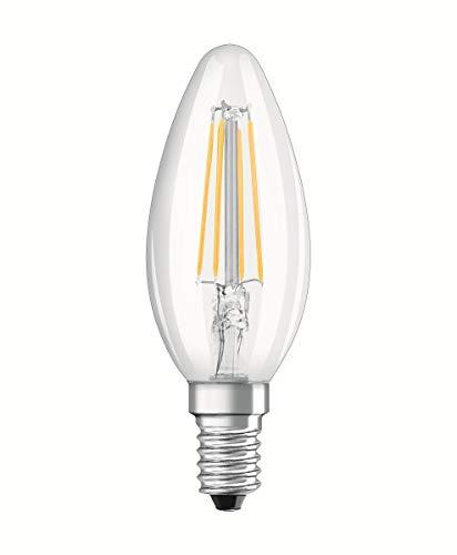 Osram LED Base Classic B, in Kerzenform mit E14-Sockel, Nicht Dimmbar, Ersetzt 40 Watt, Filamentstil Klar, Warmweiß - 2700 Kelvin, 2er-Pack