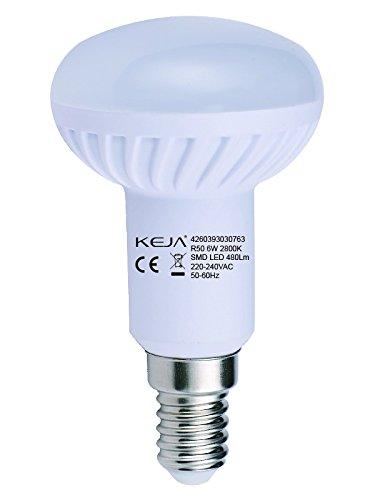 LED FACTORY 6W E14 LED Lampen 480lm Warmweiß, Ersatz für 60W Glühlampen, 2800K, 120° Abstrahlwinkel, LED Birnen, LED Leuchtmittel, 6er Pack - 2