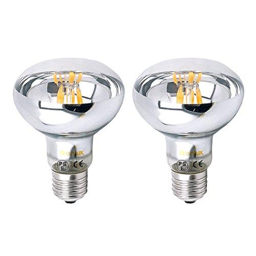 Bonlux R80 LED E27 Dimmbar Glühbirne 8W Warmweiß 2700K 700 Lumen wie 60W herkömmliche Gelühbirne R80 E27 LED Reflektorlampe für Wohnzimmer, Schlafzimmer , Allgemeinbeleuchtung (2-Stück)